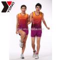 YONO Brand School y Club Running Sports Wear Ropa deportiva personalizada Sublimación unisex Ropa de running