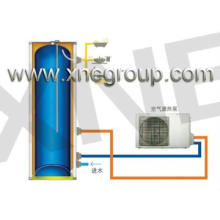 heat pump system hot water storage tank