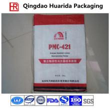 Sac d'emballage tissé par pp pour l'aliment pour animaux familiers / riz / blé / farine / engrais chimique