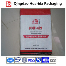 Saco de empacotamento tecido PP para alimentos para animais de estimação / arroz / trigo / farinha / adubo químico