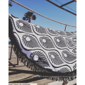 100% cotton black and white amazing line Round Beach Towel RBT-164