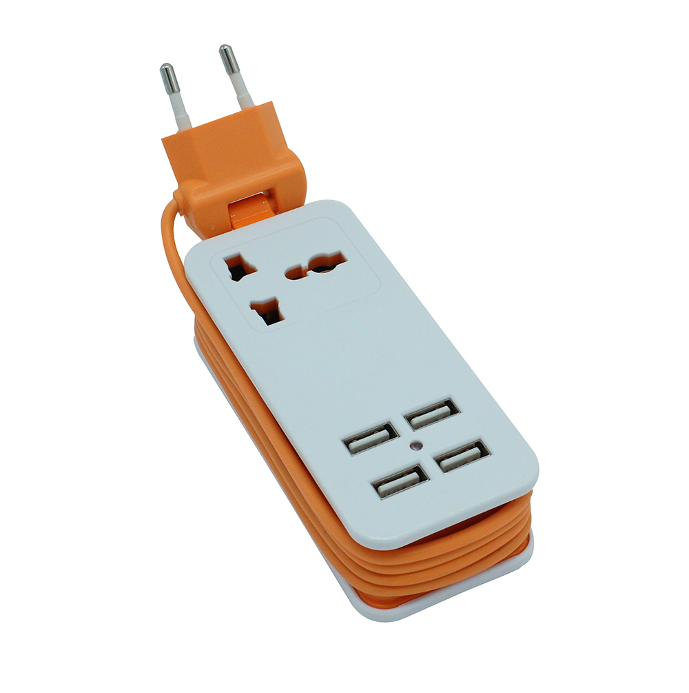 4 USB Ports Universal Extension Socket