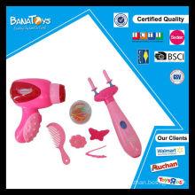 Brinquedos da menina jogo bateria operado secador de cabelo brinquedo