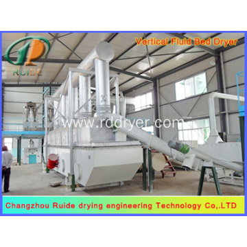 Bread crumbs horizontal vibrating fluidized bed dryer