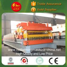 Máquina de telha de pressão a frio de camada dupla para painéis envidraçados e cauda de cauda