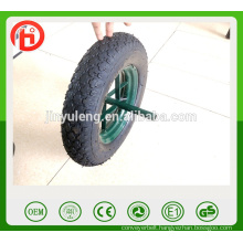 whole sale 3.50-8 / 4.00-8 gem pattern ,pneumaitc rubber wheel for wheelbarrow,wagone , trolley , ,unicycle