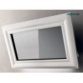 Hood Mirror and Whitened Natural Wood Frame