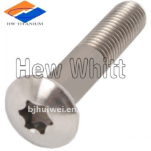 Titanium button head screw with torx