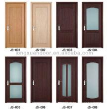 PVC-Tür Holz PVC-Tür billig Preis Innenraum billig PVC Bad Tür