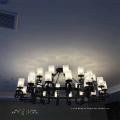 Moderne Glas Black Matt Pendelleuchte für Hotel-Projekt