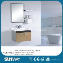 Hot Wall Hung Modern Vanity de aço inoxidável com espelho