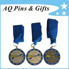 Hochwertige Medaillen mit blauem Band