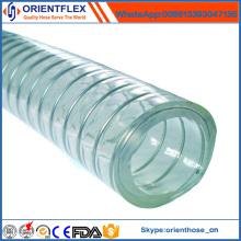 Tuyau de tuyau de vide renforcé par fil d'acier de PVC de certificat d'OIN