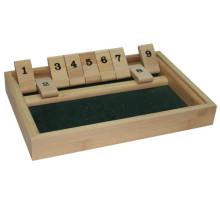 Bambu e madeira popular 9 números fechar o jogo de caixa