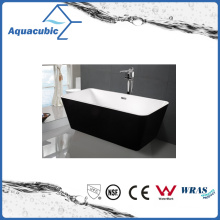 Black Surround Square Free-Standing Acrylic Bathtub (AB1506B-1500)