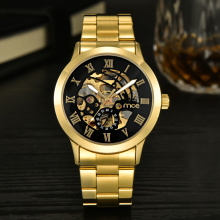 custom transparent automatic skeleton men watch