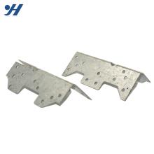 Support en métal fait sur mesure en acier perforé avec raccord perforé