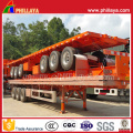 40ft Container Transport Benne ouverte plate-forme Semi camion remorque