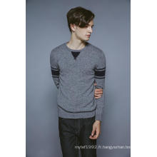 100% cachemire manches longues manches courtes tricot homme pull