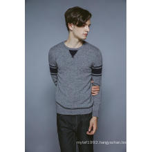 100%Cashmere Long Sleeve Round Neck Knitting Men Sweater