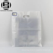 Sacs en plastique transparent de poignée de poignée découpée