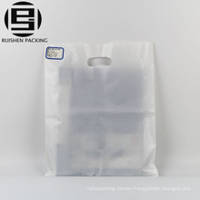 Transparent plastic die cut handle carrier bags