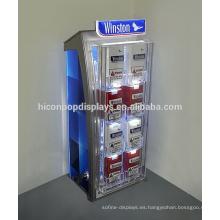 Venta al por menor de la tienda de la marca de fábrica del tabaco Caso de exhibición del plexiglás del accesorio, cigarrillo comercial llevado de la exhibición para la venta