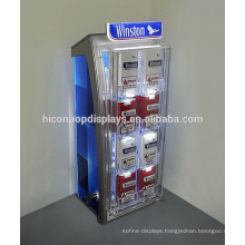 Tobacco Brand Store Retail Fixture Plexiglass Display Case, Led Commercial Display Cigarette For Sale