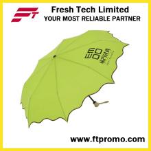 Manual paraguas plegable de 3 secciones abierto
