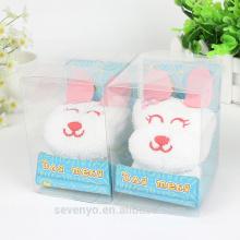 Toallas de regalo de alta calidad de conejo lindo 100% algodón
