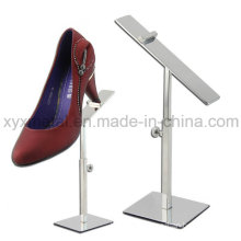 Stainless Steel Shoes Exhibition Holder Height Adjustable Table Display Stand