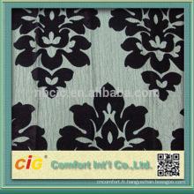 Fleur Design humide de Flock impression tissu canapé