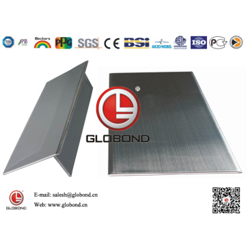 Globond Brushed Stainless Steel Sheet 043