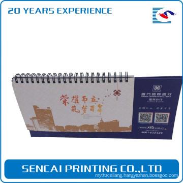 Free sample Offset printing 2017 New design spiral binding paper custom table calendar wholesale