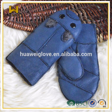 kid winter Double face leather flippers gloves in Denmark