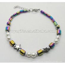 Nueva pulsera del hematito del arco iris del estilo de calidad superior