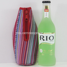 Neoprene Beer Bottle Cooler Cover Printing berwarna-warni