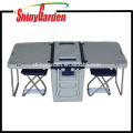 28L cooler foldable table box with wheels cooler box picnic table