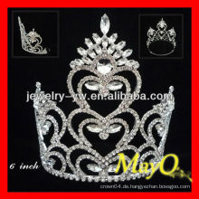 Art und Weise Pfau und Herzentwurf Großes kristallhaftes Tiara Krone