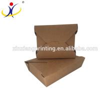 Caja de papel de papel biodegradable, caja de papel de la comida, caja de papel corrugado de alimentos