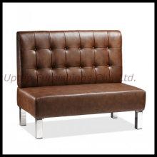 Commerical Restaurant Braun Leder Sofa Stand Sitzplätze (SP-KS166)