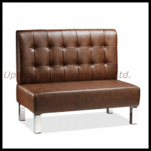 Asiento de la cabina del sofá del cuero de Brown del restaurante de Commerical (SP-KS166)