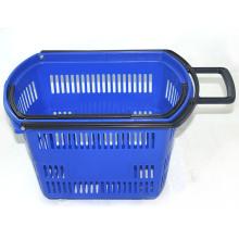 Paniers en plastique multifonctionnels portatifs de supermarché pour le magasin