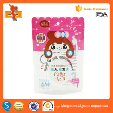 Impression OEM chinoise feuille d'aluminium plastique resellable stand up aigues ziplock doypack