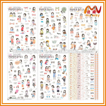 korea cute girl fashion decoration stickers for notepad