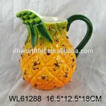 Caneca de leite de cerâmica Hot-selling com design de abacaxi para cozinha