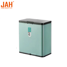 JAH Small In-cabinet Trash Can with Slide-open Lid