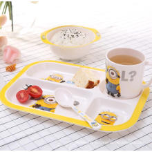 (BC-MK1015) Fashinable Design Reusable Melamine 4PCS Kids Cute Dinner Set