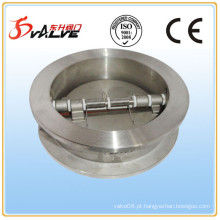 Válvula de retenção de chapa dupla, aço inoxidável 316, Dn40-Dn900