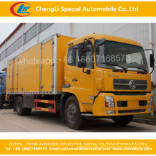 Heavy Duty Dongfeng 4 * 2 Container Van Caixa De Caminhão